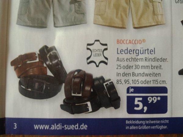 Diverse Ledergürtel (echtes Rindledert) bei Aldi Süd ab 29.06.