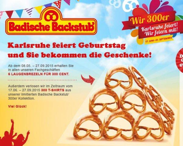 6 Brezel der Badischen Backstub Karlsruhe für 3,-