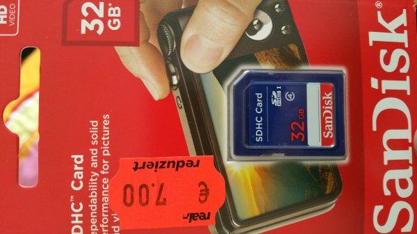Lokal (Mönchengladbach) REAL Rheydt SD Speicherkarten ab 4 €
