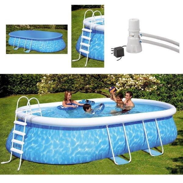Friedola Quick-Up-Pool Manhattan 610x366x122 cm mit Filterpumpe für 349,99 € @Spar Toys