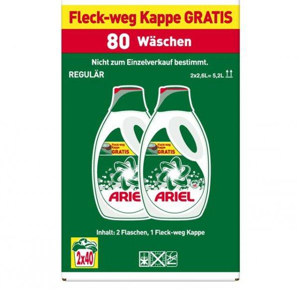 [P&G] Ariel Vollwaschmittel flüssig 80 Wäschen 5,2L