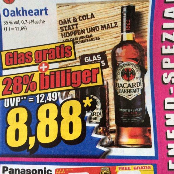 [Norma] Bacardi Oakheart 0,7 + Glas