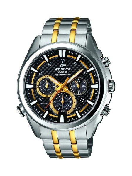 Casio Herren-Armbanduhr XL Edifice EFR-537SG-1AVE, 121,99 € statt 179,00 €, Amazon-Blitzdeal