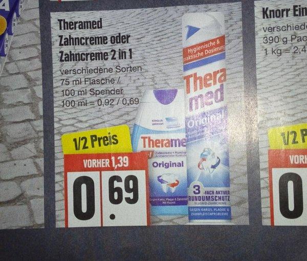 Lokal ? Theramed Zahncreme oder Zahncreme 2 in 1 bei Edeka Schwerin ab Montag (29.06.) für 0,69 €