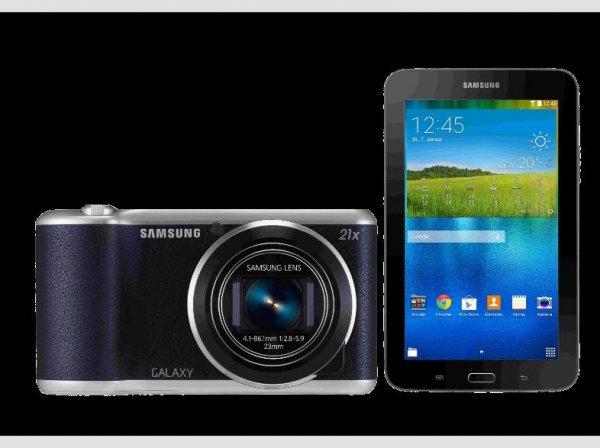 [Media Markt] SAMSUNG GC 200 + Tab3 Lite schwarz ( 21x optischer Zoom, 12,2 cm / 4.8 Zoll)  für  222,00 €