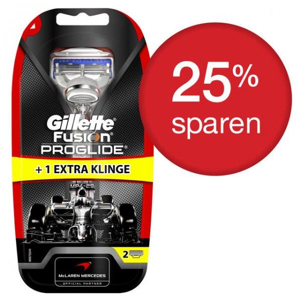 4 Gillette Fusion Klingen + 2 Handapparate Proglide für 7,98 €oder 6 Klingen + 1 Handapparat Flexball im Abo für 5,99 € incl. Versand @PGShop