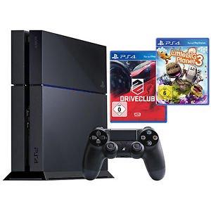 SONY PlayStation 4 Konsole 500GB Schwarz inkl. DriveClub und LittleBigPlanet 3    (354,99€)   SATURN