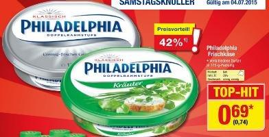 [Metro] Philadelphia Frischkäse verschiedene Sorten am 04.07.2015 für 74 Cent