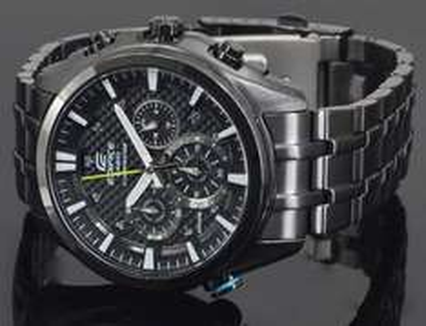 Casio Herren-Armbanduhr XL Edifice EFR-537BK-1AVEF für 147,99 € statt 199,00 €, Amazon-Blitzdeal
