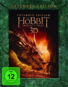 [WHD] Der Hobbit: Smaugs Einöde Extended Edition [Blu-ray + Blu-ray 3D] für  22,20 Euro statt 30,05 Euro