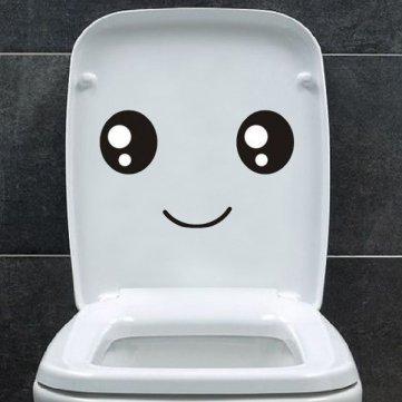 [Must-Have für das Gästeklo] Ein freundlicher Toiletten Sticker für 36 cent [@banggood]