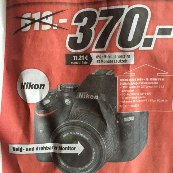 [Lokal MediaMarkt Pirmasens] Nikon d5200 kit