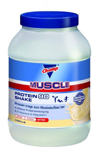[Amazon-Blitz] Champ Muscle Protein 90 Shake Vanille, 1er Pack (1 x 810 g) für 14,99 !