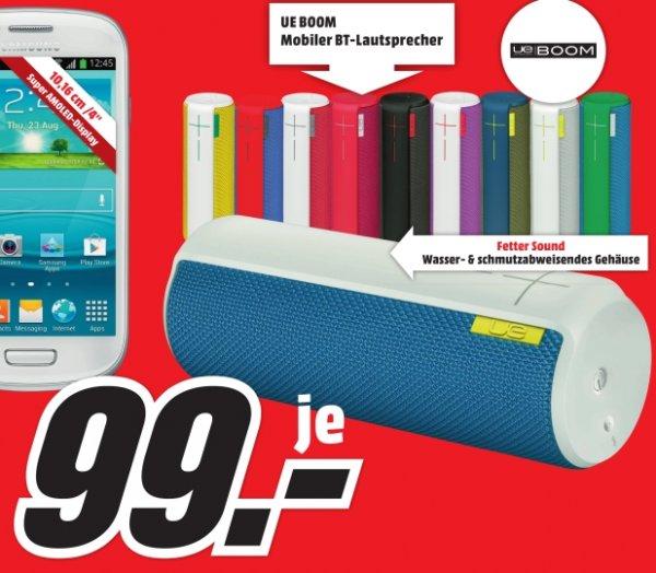 [Lokal Media Markt Berlin-Wedding] Logitech Ultimate Ears UE Boom, Bluetooth® Lautsprecher mit NFC,in verschiedenen Farben für 99,-€
