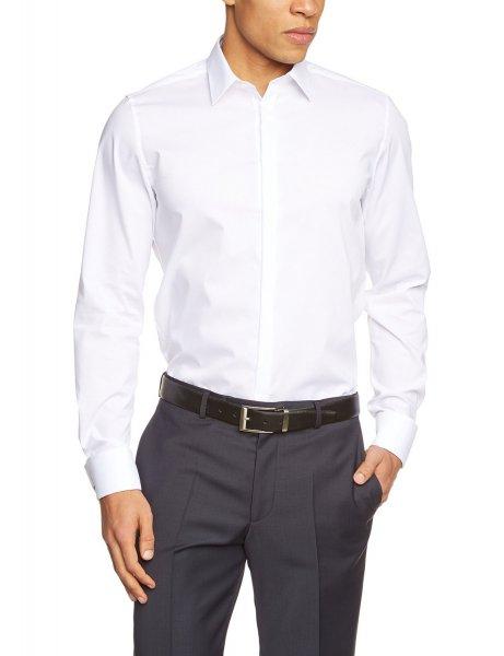 Amazon: Seidensticker Herren Slim Fit Businesshemd Farbe : weiß Größe 43 - Nur 17,61 €