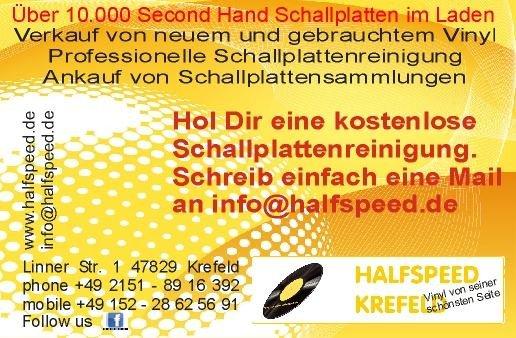 Kostenlose Schallplattenreinigung im Halfspeed Krefeld