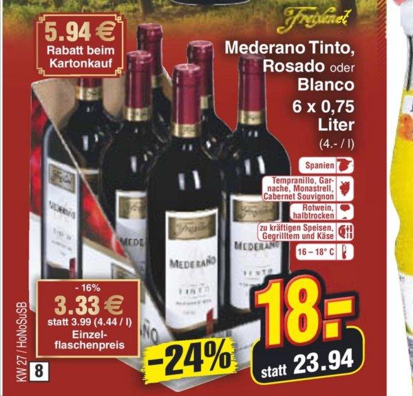 KW27 Bundesweit Netto MD Freixenet Mederano Tinto mit 24% Rabatt (bei Abnahme 6 Stk)