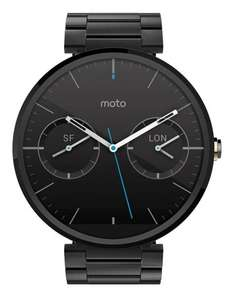 Motorola Moto 360 Metal Edition Dark-Finish Smartwatch (Metal Band, 23 mm) inkl. Vsk für 203,04 € > [amazon.fr]