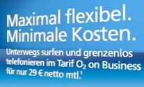 o2 on für effektiv 21,81€ und o2 on Upgrade für 33,71€ - Surf- und Telefonflatrate für Gewerbetreibende *UPDATE2*