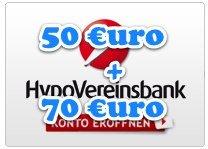 HypoVereinsbank mit 50€ Bonus + 70€ Cashback für komplett kostenlose Girokonto *UPDATE3*