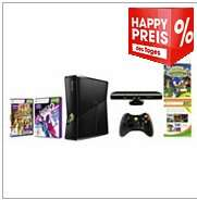 Xbox 360 4GB Kinect Bundle + 2 Spiele + 5 Arcade Games bei OTTO