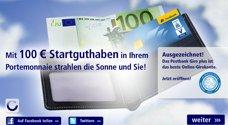 100€ Startguthaben für Postbank Neukunden - rund um die Uhr am Wochenende *UPDATE*