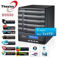 Thecus N5550 für 359€ und 5% Cashback - 5-Bay NAS für den etwas professionelleren Einsatz