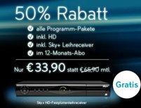 Sky Angebot - Sky Komplett (inkl. HD) ab 35€ *UPDATE*