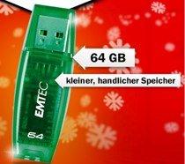 Emtec 64GB USB 2.0 Stick für 18€