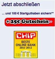 Postbank Girokonto mit 125€ Startguthaben für Neukunden *UPDATE2*