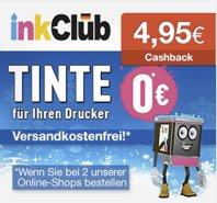 inkClub - Tintenpatrone (Canon/Epson) oder Fotopapier für 0€ + 1,95€ VSK und 4,95€ qipu Cashback