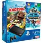 Sony PlayStation 3 Super Slim 500GB + LittleBigPlanet Karting + PlayStation All-Stars: Battle Royale + 20€ Rabatt auf ein weiteres Spiel für 249€
