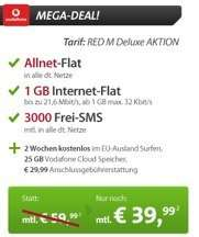 Vodafone Red M – Allnet-Flat, SMS-Flat, 1,5GB / 1GB Internet (42,2Mbit/s) *UPDATE*