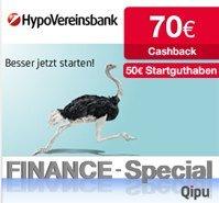 HypoVereinsbank mit 50€ Bonus + 70€ Cashback für komplett kostenlose Girokonto *UPDATE*