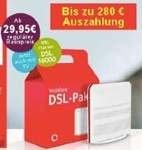 Vodafone DSL + Vodafone TV für effektiv 16,64€/20€ pro Monat - noch günstiger für Red M Nutzer (ab 6,64€)