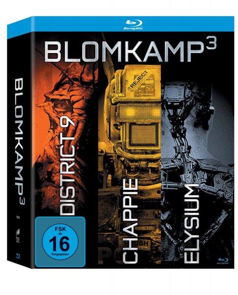 (Amazon Prime) Blomkamp³ - Chappie / District 9 / Elysium 3er Blu-ray-Box inkl. 64-seitiges Booklet für 19,99 EUR
