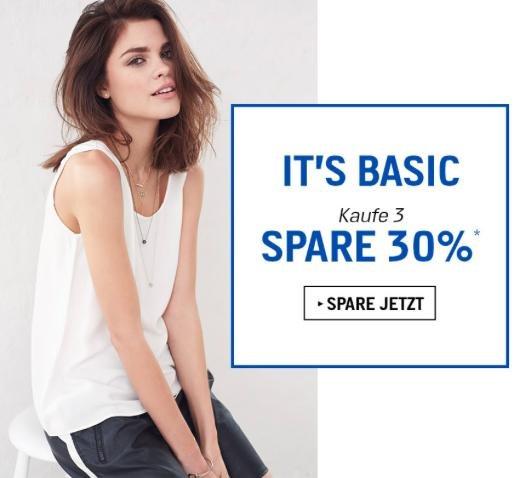 Vero Moda: -30% auf den Warenkorb bei der Wahl von drei Basics (Tops, Cardigans, Jeggings)