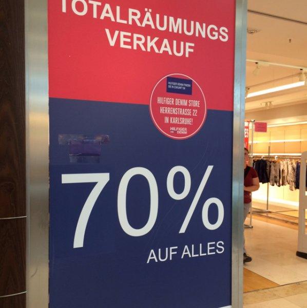 [lokal Karlsruhe] 70% auf alles in Hilfiger Store