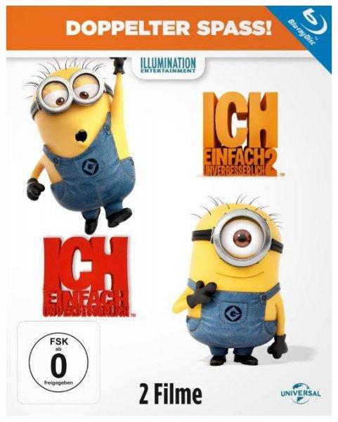 Ich – einfach Unverbesserlich Blu-ray Teil 1+2 für 14,97€ (statt 26€)