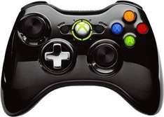 Xbox 360 Wireless Controller (chrome schwarz) für 25,39€ @Amazon.fr