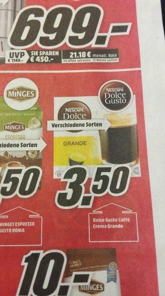 (Lokal+ Offline) Dolce Gusto kapseln für 3,50€ @ mediamarkt äppelallee