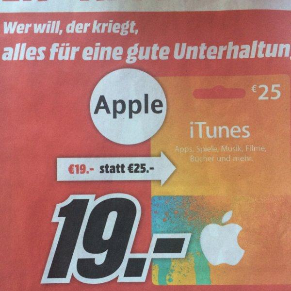 [lokal Wiesbaden] - iTunes Guthabenkarte 25€ für 19€