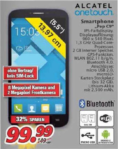 [Marktkauf Nordbayern-Sachsen-Thüringen] Alcatel One Touch Pop C9 (7047D) Dual-Sim für 99,99 €