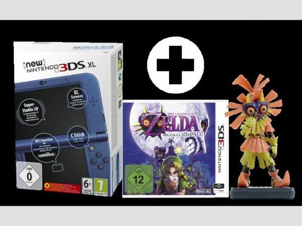 (MediaMarkt) New Nintendo 3DS XL Metallic Blau Zelda Set inkl. Horror Kid Figur
