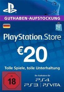 PSN 20€ Guthaben für 17,09 €/ 50 € PSN für 40,84 €