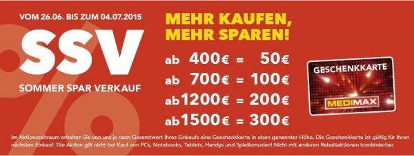 MediMax Aktion mit Gutschein / Beispiel mit Sonos ab 1500 Euro 300 Euro Gutschein 17 %
