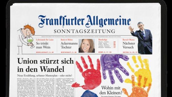 Frankfurter Allgemeine Sonntagszeitung + 20€ Tankgutschein + 30€ Shoppingbon für 44,10 € - effektiv 5,90€ Gewinn