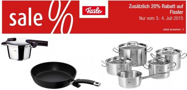 @Galeria-Kaufhof.de - 20% Rabatt auf Fissler Produkte