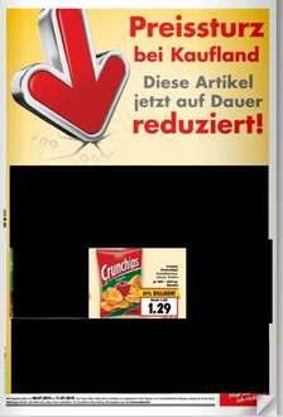 [Kaufland Bundesweit ab 06.07] Kaufland senkt den Preis aller Crunchips Sorten DAUERHAFT von 1,89€ auf 1,29€