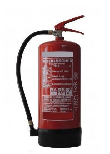 [Amazon] 9kg Pulverlöscher Feuerlöscher DIN EN 3 - für Elektrogeräte und EDV geeignet inkl. Prüfnachweis